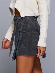 corduroy skirts a line corduroy skirt gray skirts s zaful