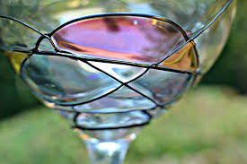 Beautiful Wine Glasses Beautiful Hand Painted Wine Glasses Three Different Directions