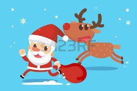 imagenes de santa claus feliz navidad feliz navidad santa claus en traje rojo está corriendo y agitando