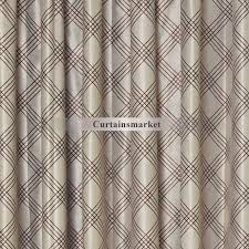 Noise Reduction Drapes Patterned Brown Color Best Noise Reduction Curtains