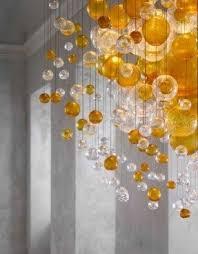 Cascading Glass Bubble Chandelier Glass Globe Pendant Light Foter