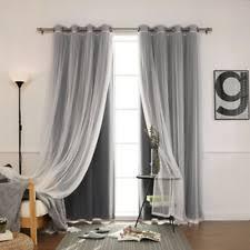 Best Home Fashion Curtains Lace With Blackout Curtains Drapes U0026 Valances Ebay