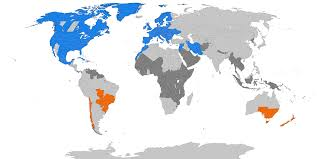 Latest Time Zone Map Now by Daylight Saving Time Wikipedia