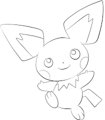 pichu coloring free printable coloring pages