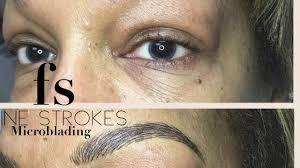 fine strokes microblading permanent makeup eyebrows tattoo