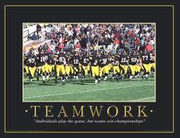 Teamwork Memes - iowa hawkeyes football motivational teamwork touchdown print