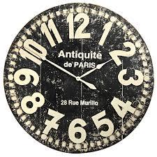 oversize black grandiose wall clock pier 1 imports