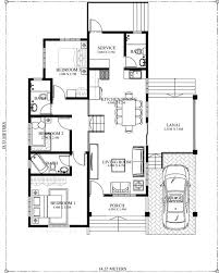 bungalow house plans 10 bungalow single story modern house with floor plans and