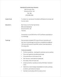 resume exles for hairstylist cosmetology resume sles hair stylist resume exles cosmetology