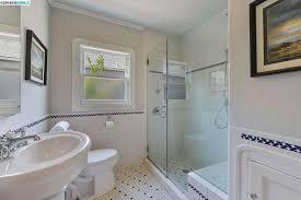 Kohler Bathroom Cabinet by Traditional 3 4 Bathroom With Pedestal Sink U0026 Penny Tile Floors In
