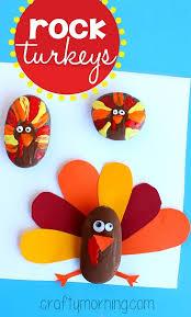 decorate rocks as turkeys thanksgiving craft crafty morning