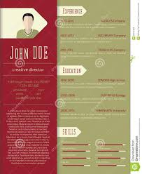 Free Design Resume Template Download Modern Cv Resume Template Design Stock Illustration Image 55181529