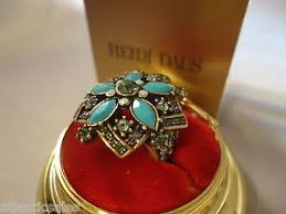Turquoise Corsage Heidi Daus Turquoise Corsage For The Hand Ring Size 8 New With Box