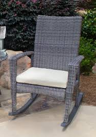 Gray Wicker Patio Furniture - bayview rocking chair in driftwood gray wicker