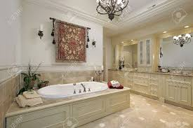 master bath in luxury home with large tub stock photo picture and master bath in luxury home with large tub stock photo 6732463