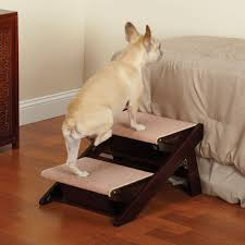 large wood pet ladder stairs dog ramp 20 tall bed steps step for