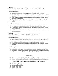 military transition resume examples ex military resume sample resume for a military to civilian a resume example resume format download pdf