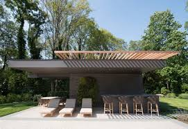 up modern pool house cabana and shade structure modern design
