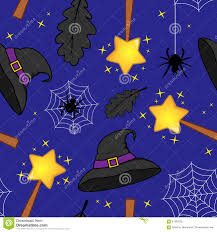 purple and black halloween background halloween magic wand witch hat pattern stock vector image 61362532