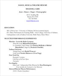 musical theatre resume exles 2 gallery of showbiz resume musical theatre resume template an