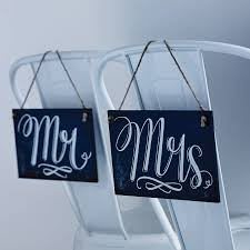Mr And Mrs Sign For Wedding Mr U0027 And U0027mrs U0027 Chalkboard Style Wedding Signs By The Wedding Of My