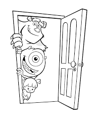 monsters coloring pages disney pixar coloringstar