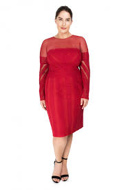 Red Cocktail Dress Plus Size Lulu Dress Plus Size Tadashi Shoji