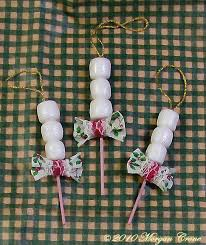 mini marshmallow ornaments by morgancrone on deviantart