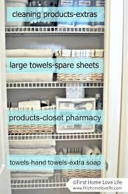 Organize Bathroom Cabinet by Best 25 Bathroom Closet Ideas On Pinterest Bathroom Closet