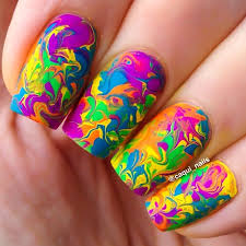 Diy Easy Halloween Drag Marble Nails Design Cute Dry Nail Art by Marbled Nails Can Be Achieved Without Water U0026 Much Easier These