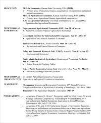 Resume Templates Downloads Free Sample Agriculture Resume 6 Documents In Pdf