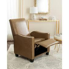 Recliner Chair Safavieh Holden Tan Bicast Leather Recliner Fox6208b The Home Depot