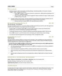 best solutions of sample digital marketing resume in job summary