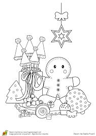 Coloriage Décorations de Noël Petit Goûter