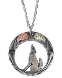 silver wolf pendant necklace images Black hills gold sterling silver wolf pendant w necklace jpg