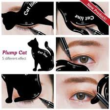 ibeet cat eyeliner stamp stencil kit cat shape eye shadow guide