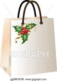 christmas shopping bags clip vector christmas shopping bag stock eps gg59618782