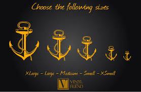 Ship Decor Home by Boat Anchor Nautical Vinyl Wall Decor Art For A Sea Man Navy Ship