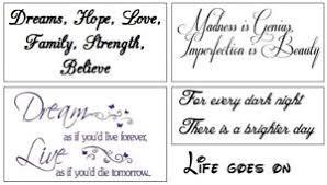 quotes temporary tattoos ebay