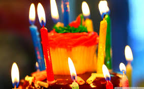 birthday cake and candles 4k hd desktop wallpaper for u2022 tablet