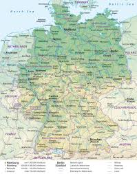 France Map With Cities by Map Of Germany With Cities And Towns Pleasing Map Germany