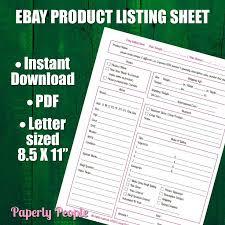 free ebay auction templates ebay products listing sheet 2 versions evernote u0026 dropbox ebay