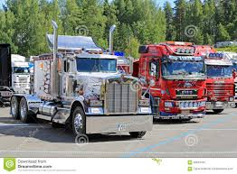 2017 kenworth cabover classic kenworth and finnish cab over show trucks editorial image