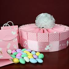 baby shower souvenirs baby girl shower favor kit single tier