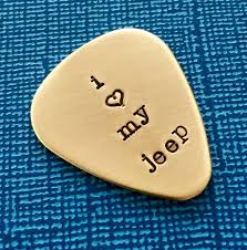 i love my jeep unique guitar pick i love my jeep customized guitar pick