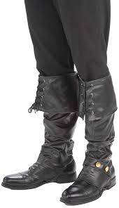 mens high heel motorcycle boots amazon com forum novelties men u0027s deluxe pirate boot covers