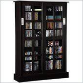 Sliding Door Dvd Cabinet Media Storage