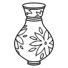 coloring page vase kids drawing and coloring pages marisa
