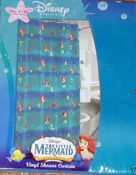 The Little Mermaid Shower Curtain Disney Little Mermaid Vinyl Shower Curtain New Ariel