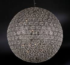 luxury 100 cm diameter carved glass sphere chandelier